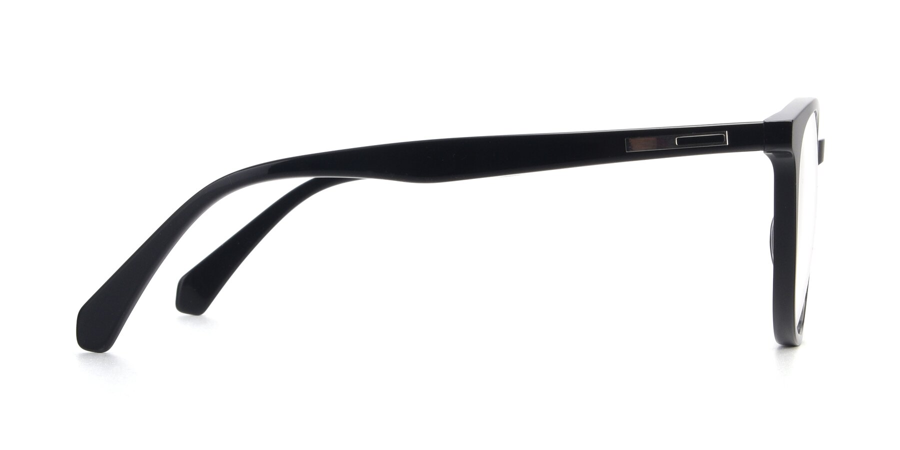 Side of 17721 in Black with Clear Blue Light Blocking Lenses