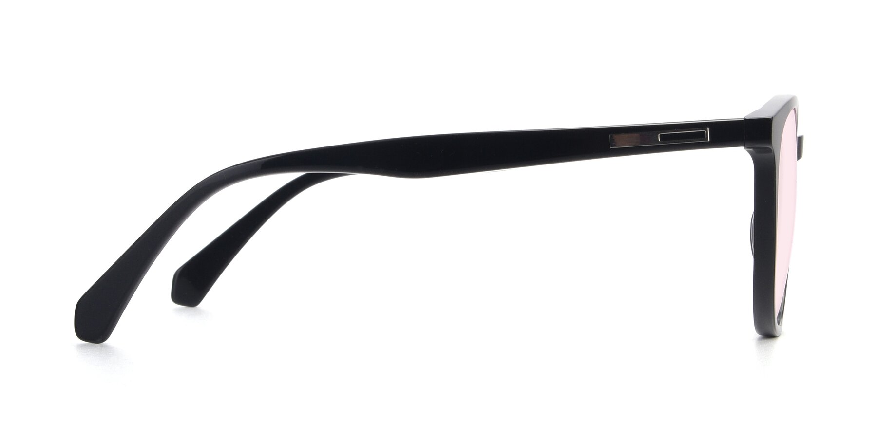 Side of 17721 in Black with Light Pink Tinted Lenses