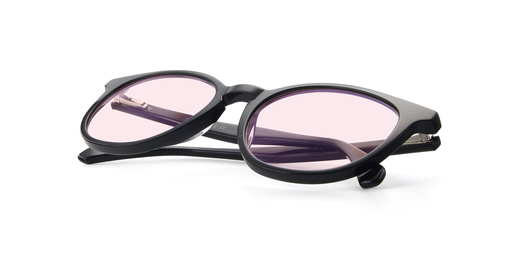 View of 17721 in Black with Light Pink Tinted Lenses