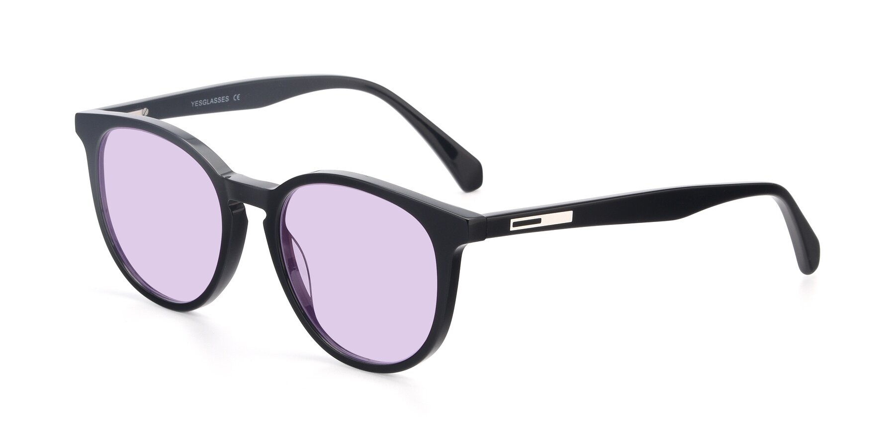 Angle of 17721 in Black with Light Purple Tinted Lenses