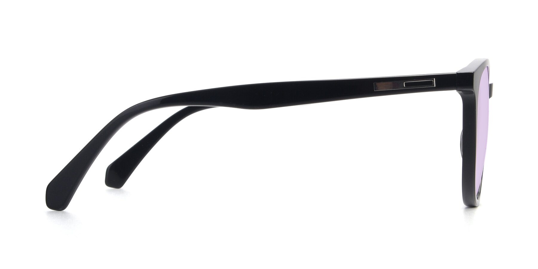 Side of 17721 in Black with Light Purple Tinted Lenses