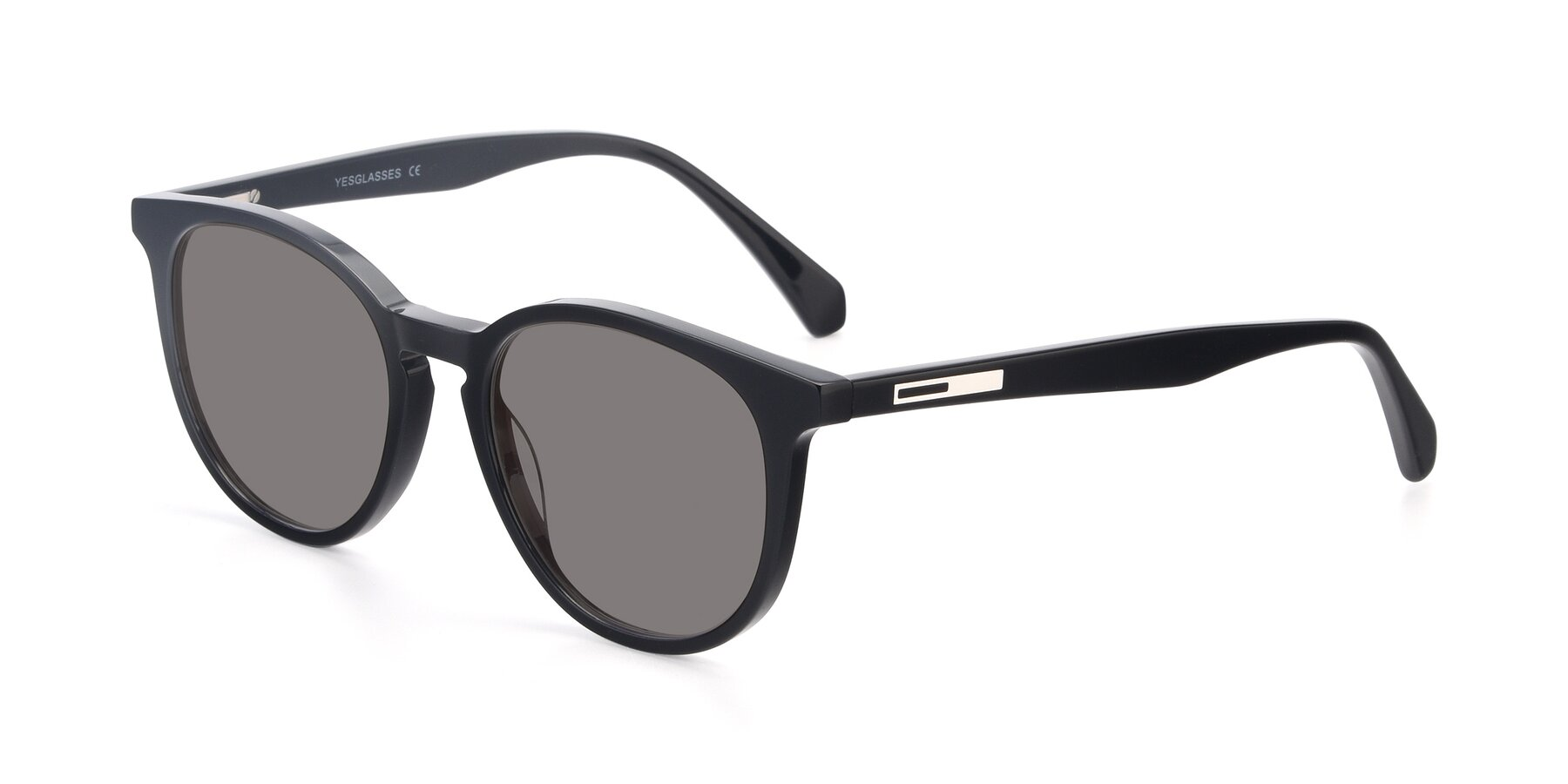 Angle of 17721 in Black with Medium Gray Tinted Lenses