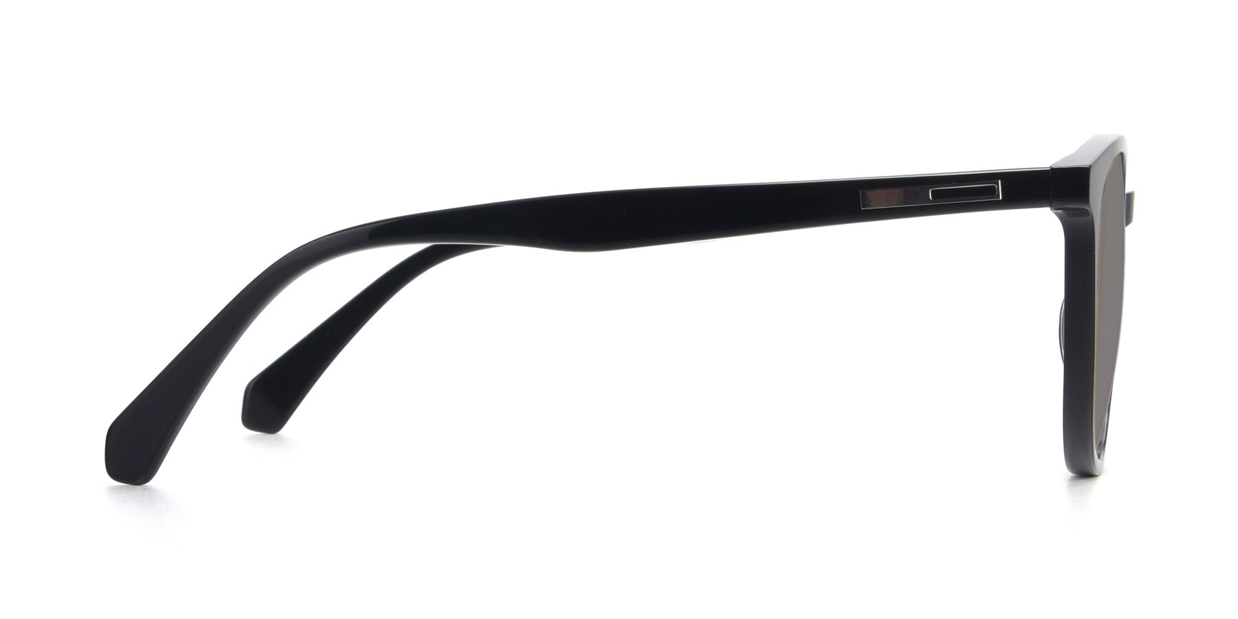 Side of 17721 in Black with Medium Gray Tinted Lenses