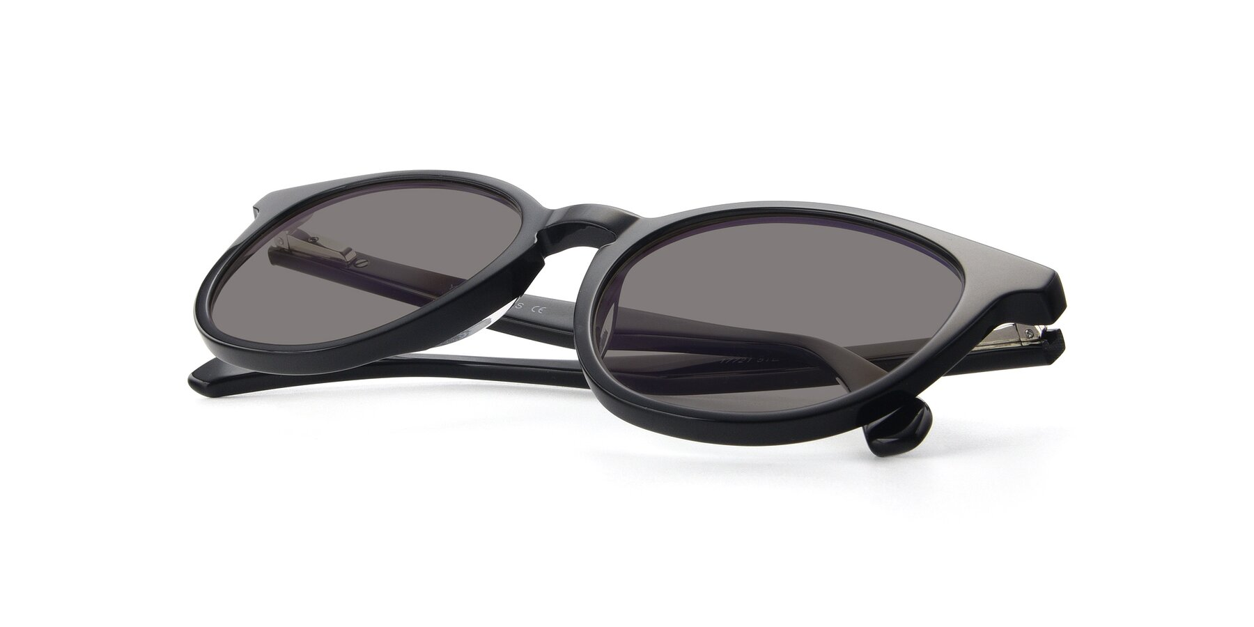 View of 17721 in Black with Medium Gray Tinted Lenses