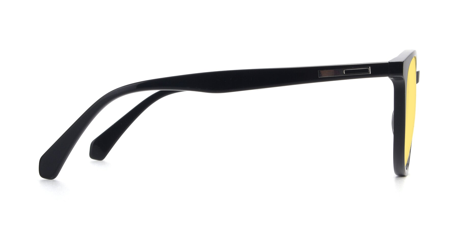 Side of 17721 in Black with Medium Yellow Tinted Lenses