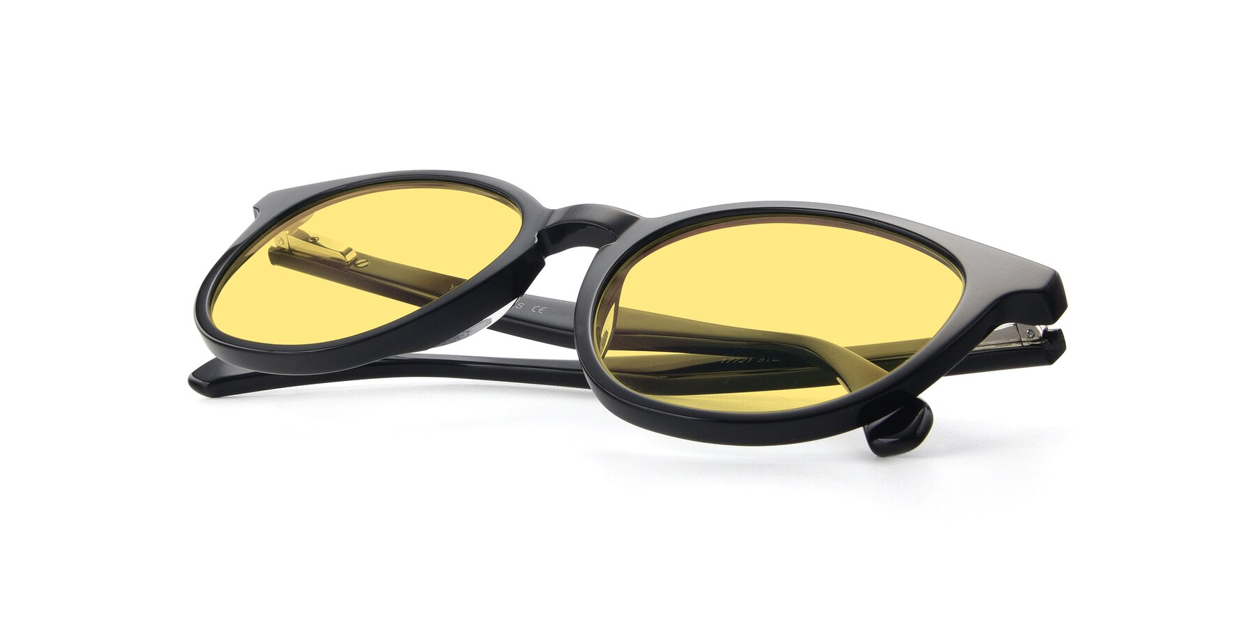 View of 17721 in Black with Medium Yellow Tinted Lenses