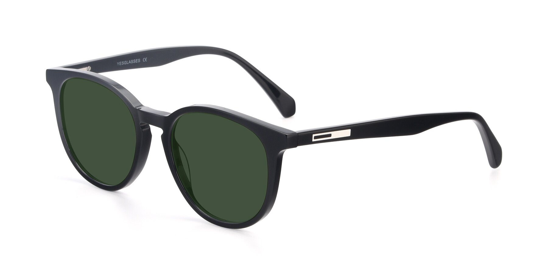Angle of 17721 in Black with Green Tinted Lenses