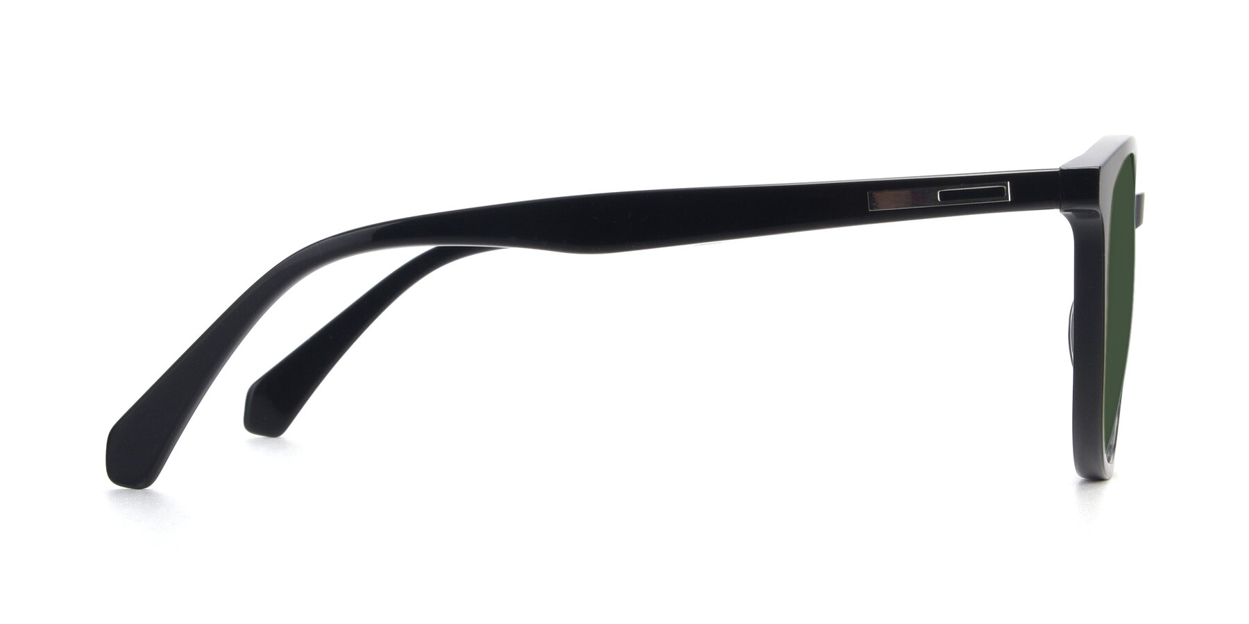 Side of 17721 in Black with Green Tinted Lenses