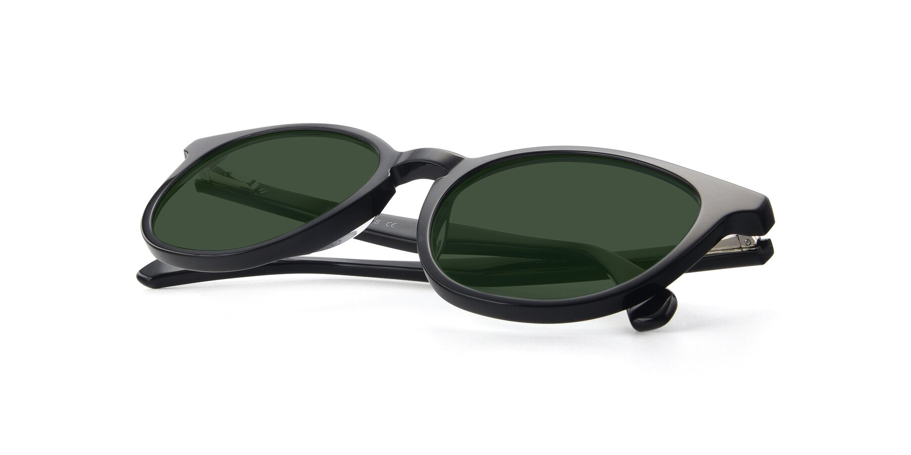 View of 17721 in Black with Green Tinted Lenses