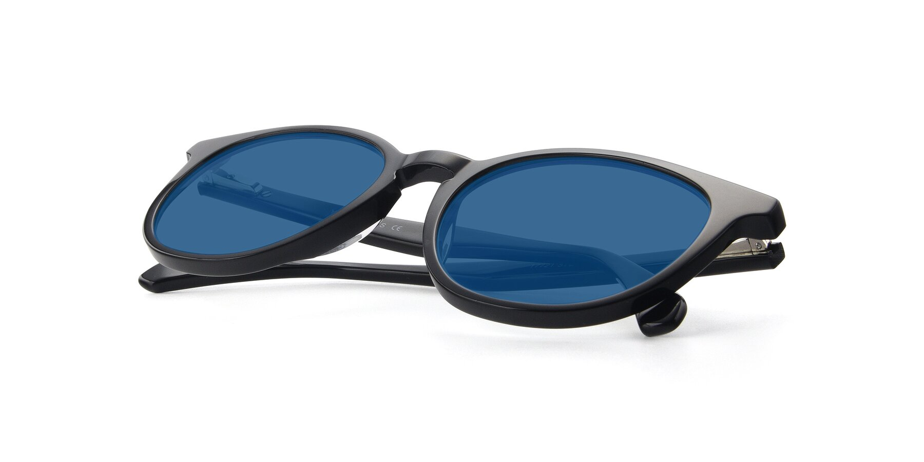View of 17721 in Black with Blue Tinted Lenses