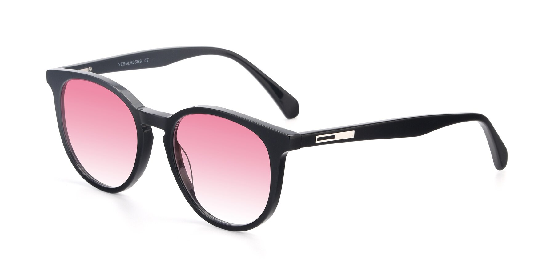 Angle of 17721 in Black with Pink Gradient Lenses