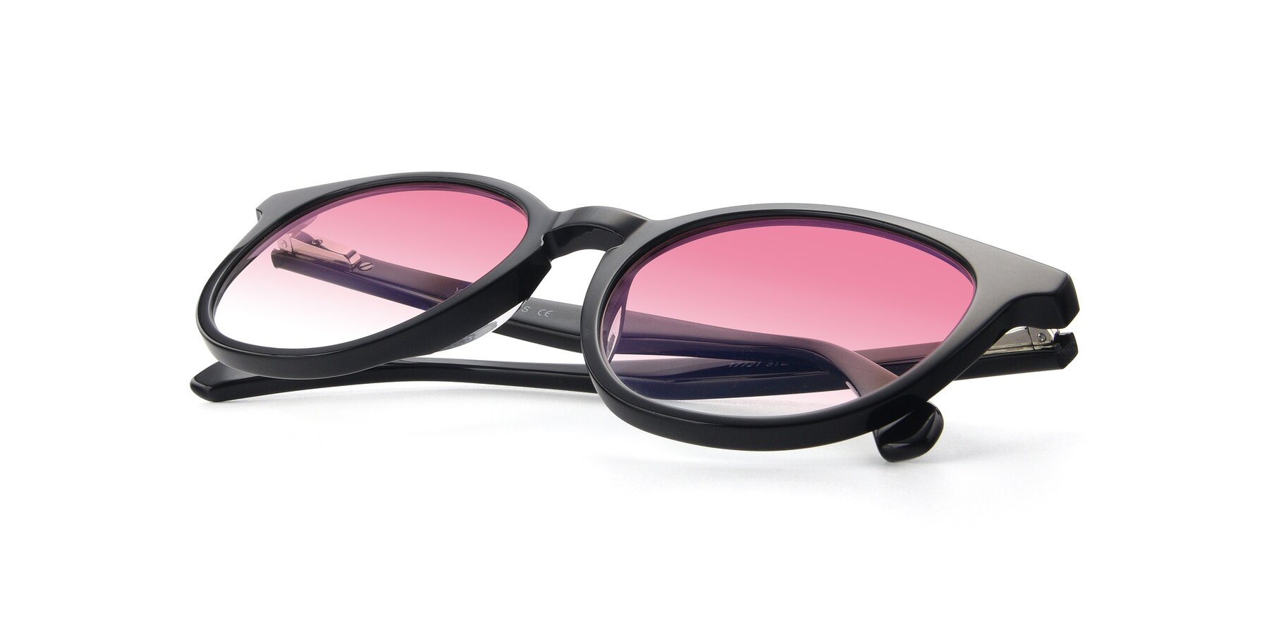 View of 17721 in Black with Pink Gradient Lenses