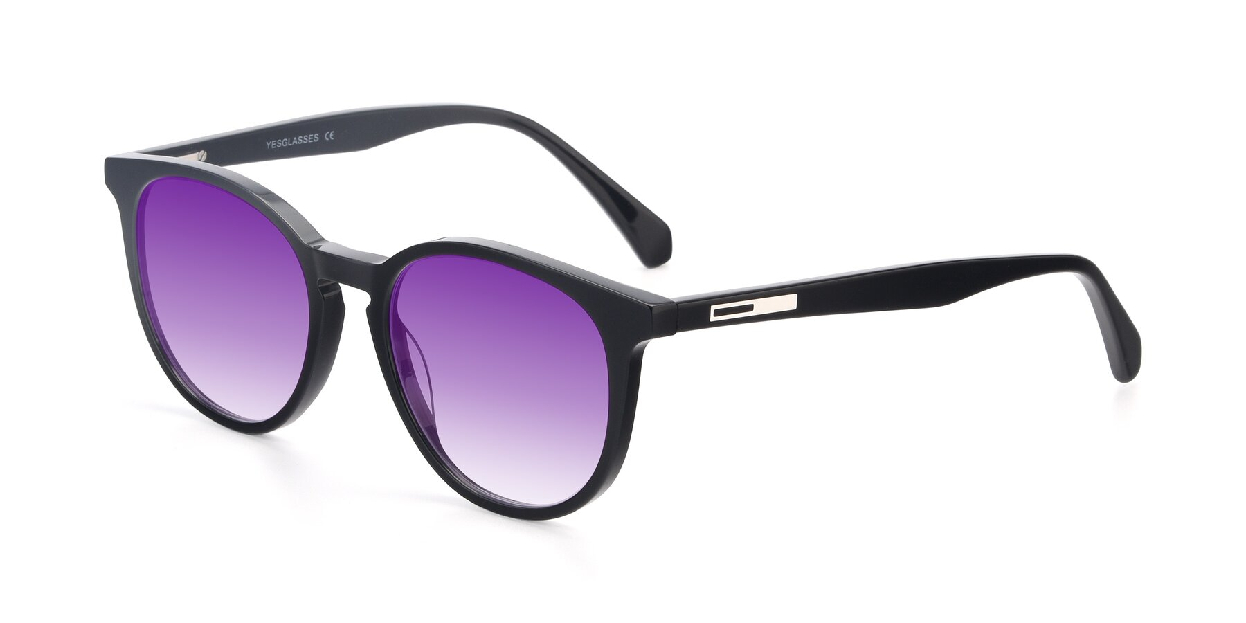 Angle of 17721 in Black with Purple Gradient Lenses
