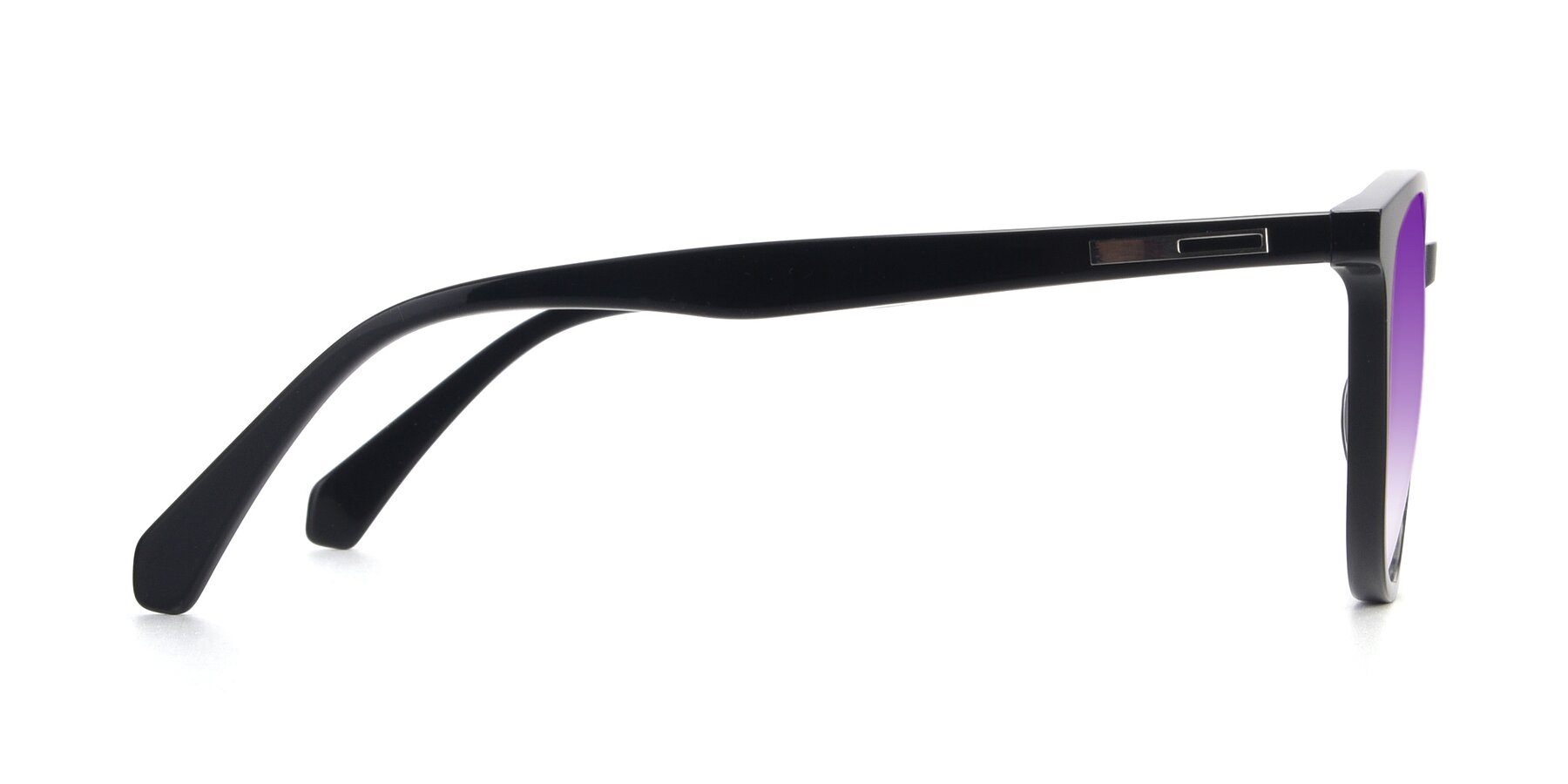 Side of 17721 in Black with Purple Gradient Lenses