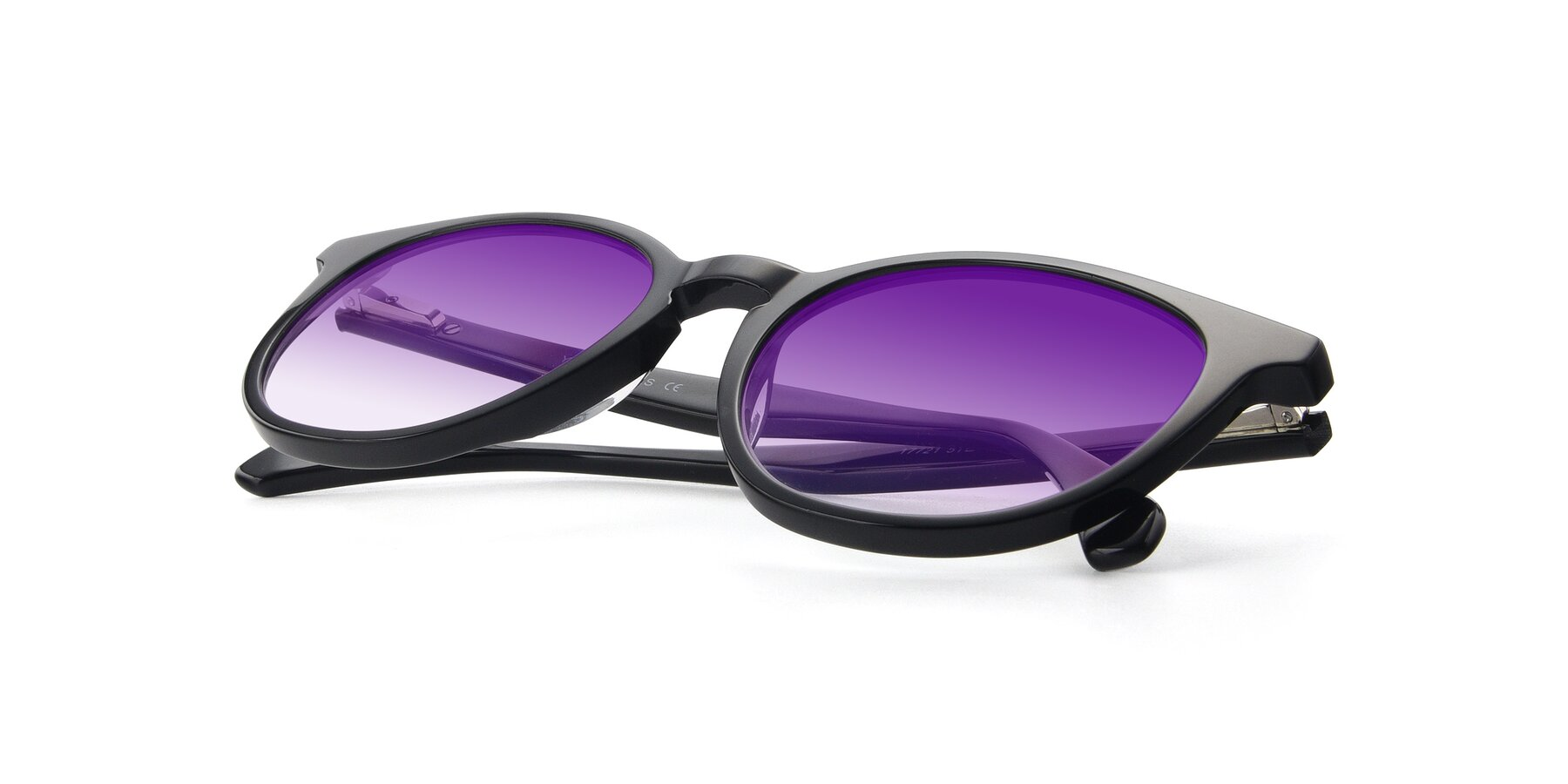 View of 17721 in Black with Purple Gradient Lenses
