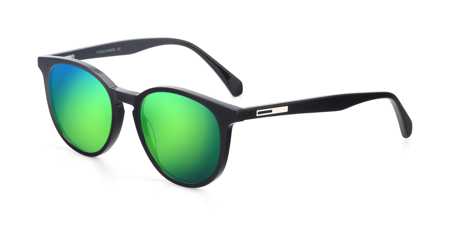 Angle of 17721 in Black with Green Mirrored Lenses