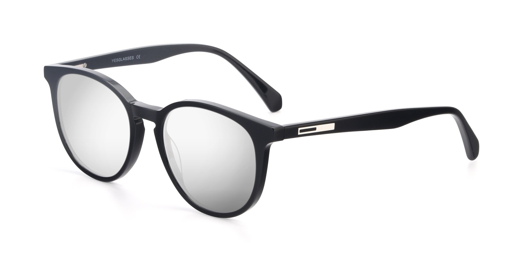 Angle of 17721 in Black with Silver Mirrored Lenses