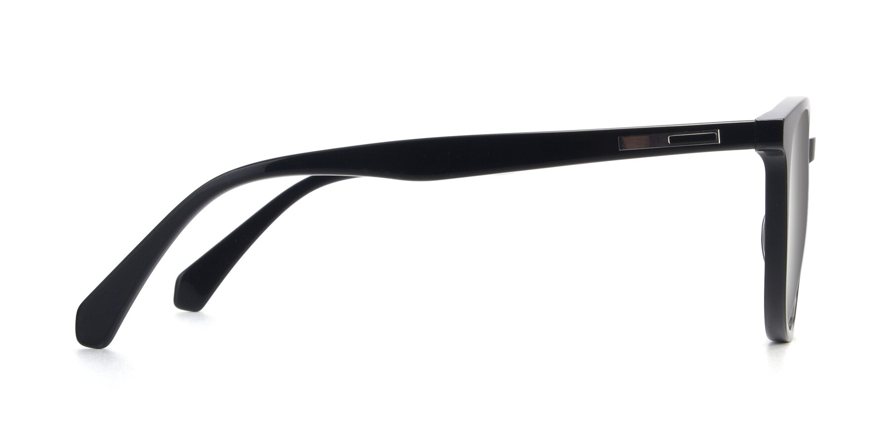 Side of 17721 in Black with Silver Mirrored Lenses