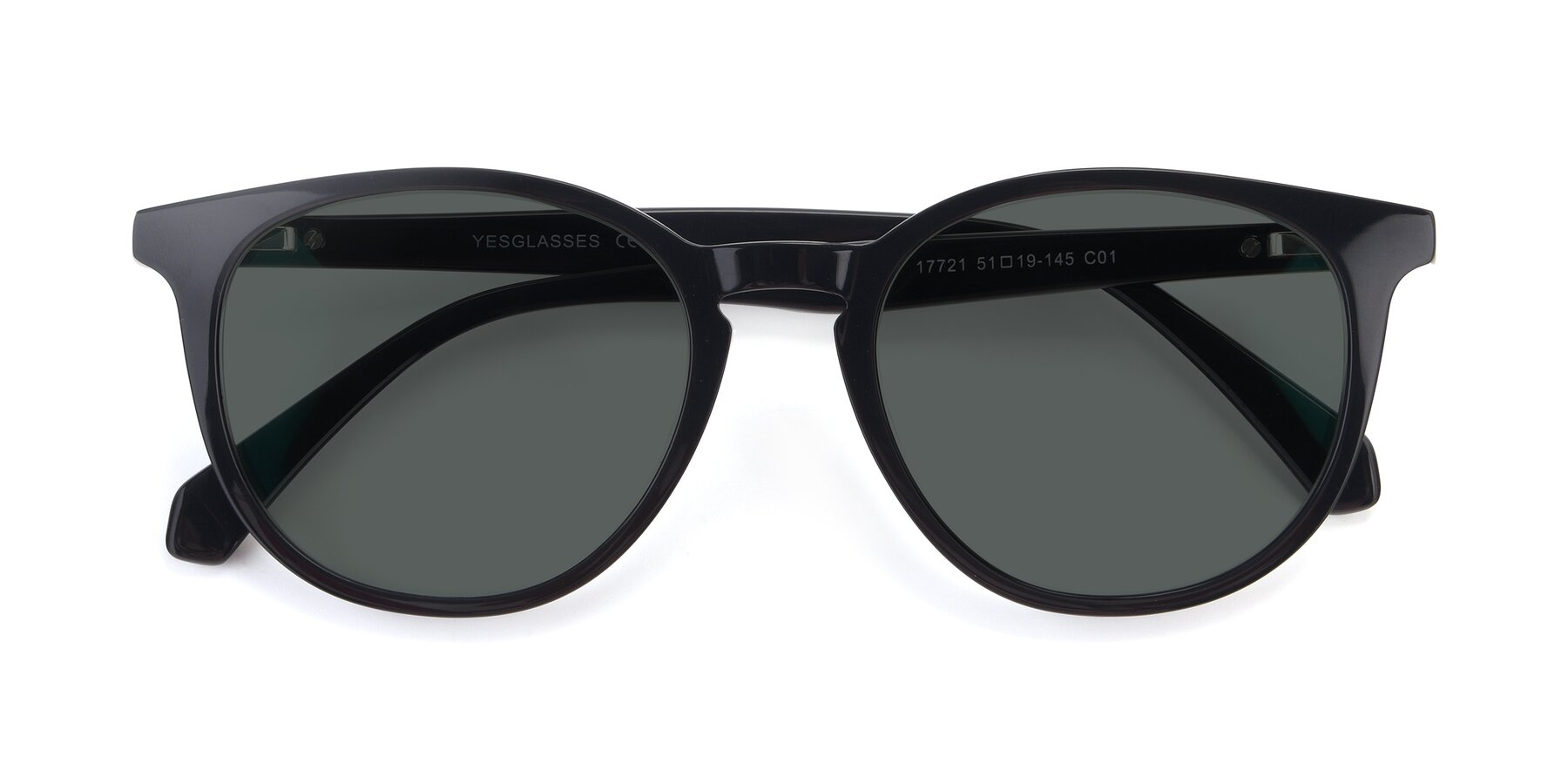 Folded Front of 17721 in Black with Gray Polarized Lenses