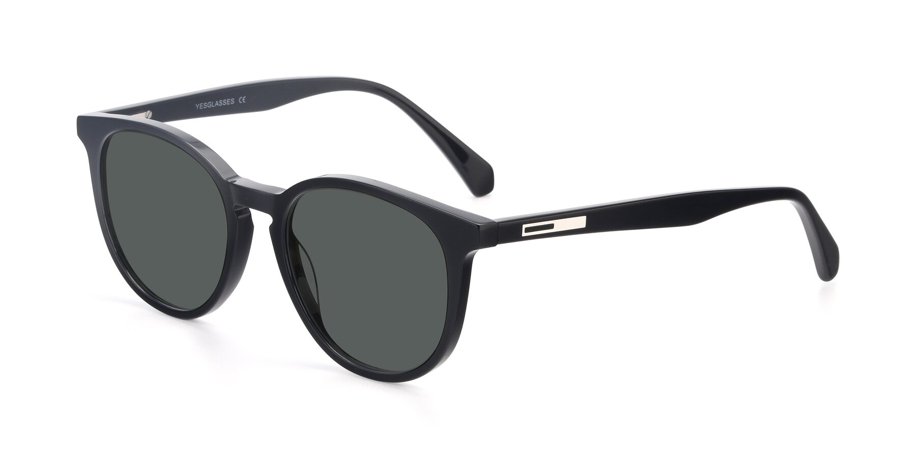 Angle of 17721 in Black with Gray Polarized Lenses