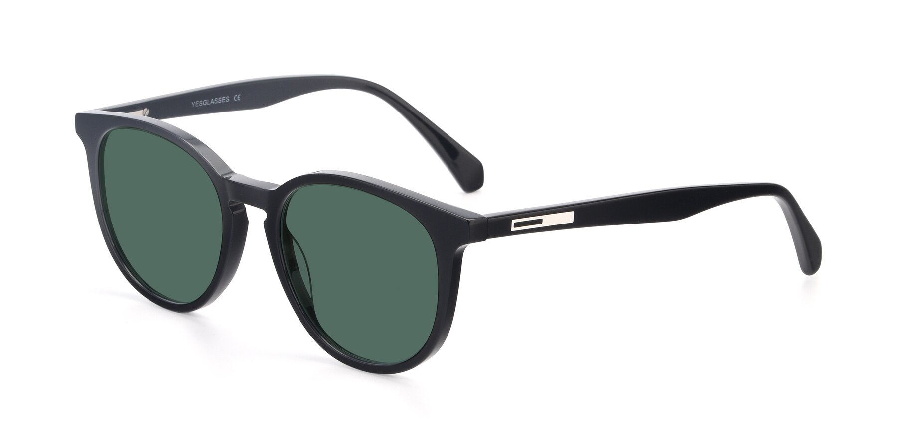 Angle of 17721 in Black with Green Polarized Lenses