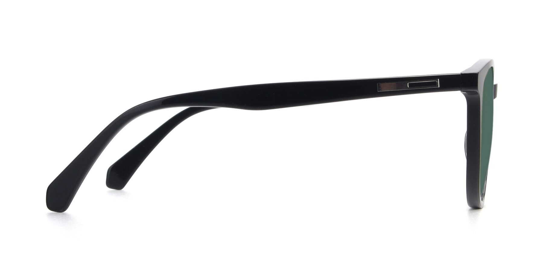 Side of 17721 in Black with Green Polarized Lenses