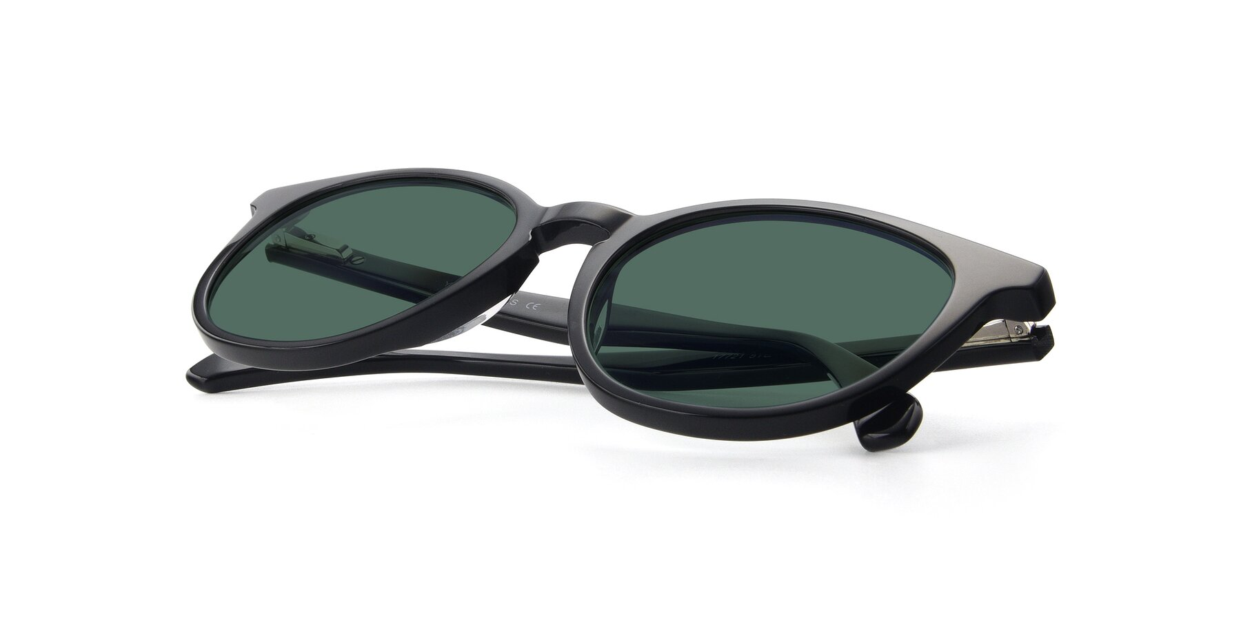 View of 17721 in Black with Green Polarized Lenses