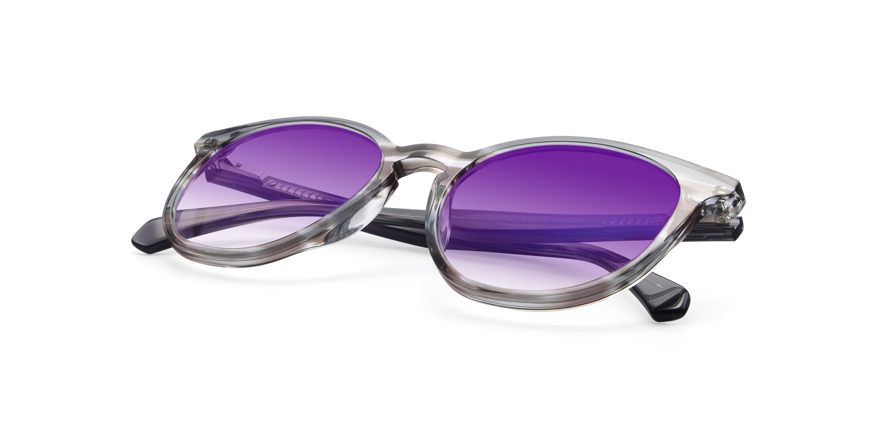 View of 17721 in Stripe Grey with Purple Gradient Lenses