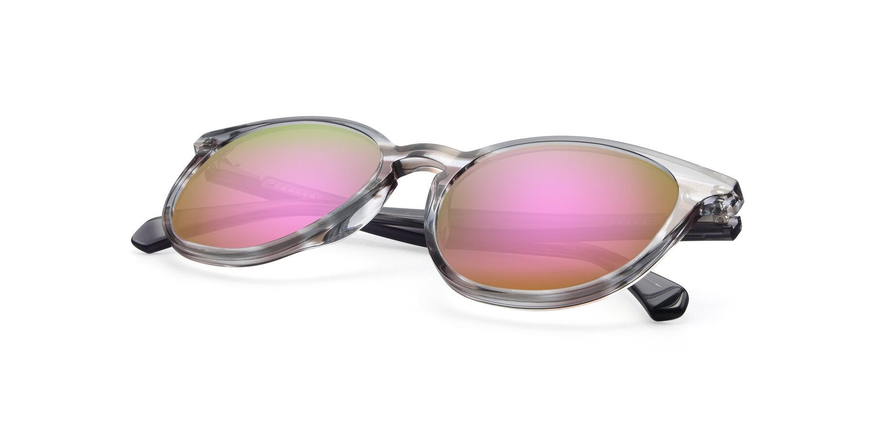 View of 17721 in Stripe Grey with Pink Mirrored Lenses