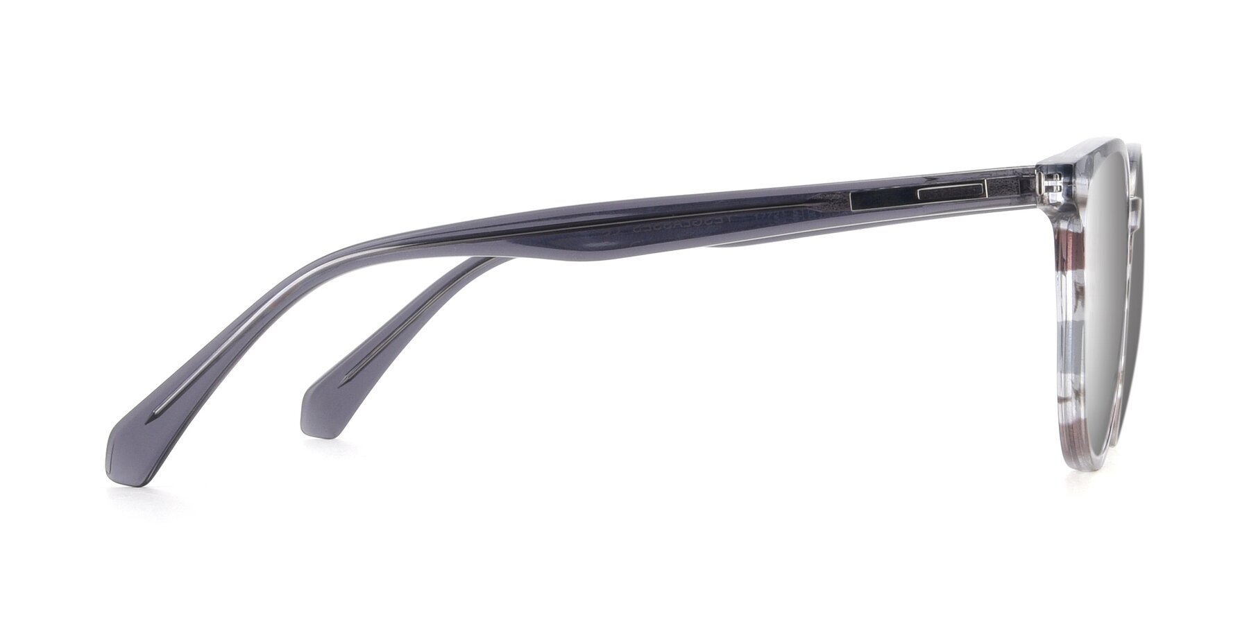 Side of 17721 in Stripe Grey with Silver Mirrored Lenses