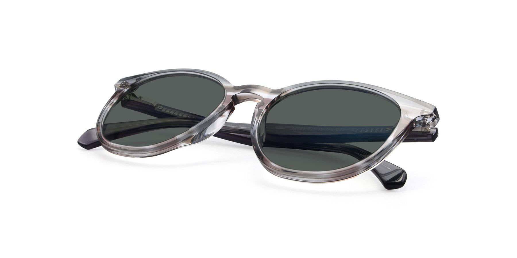 View of 17721 in Stripe Grey with Gray Polarized Lenses