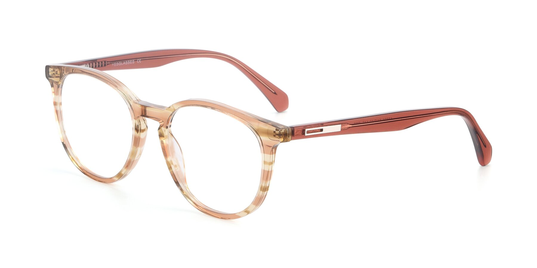Angle of 17721 in Stripe Caramel with Clear Blue Light Blocking Lenses