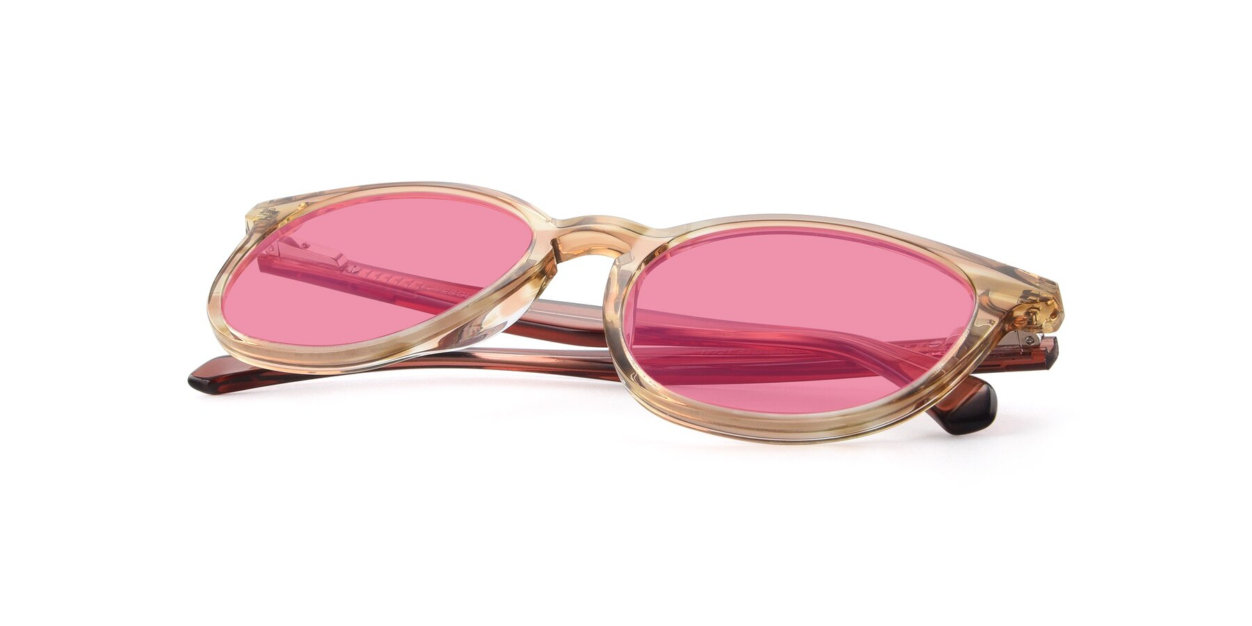 View of 17721 in Stripe Caramel with Pink Tinted Lenses