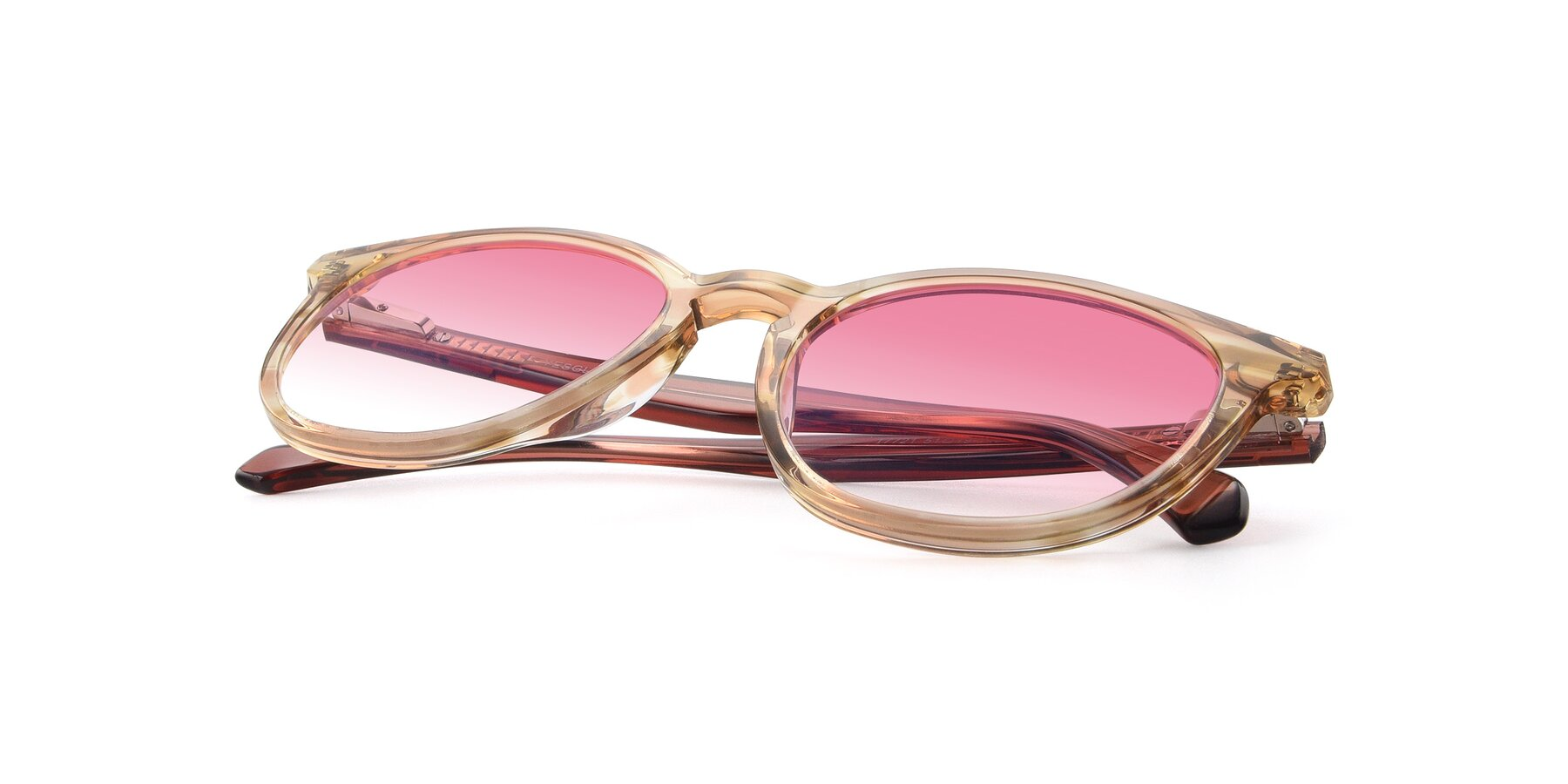 View of 17721 in Stripe Caramel with Pink Gradient Lenses