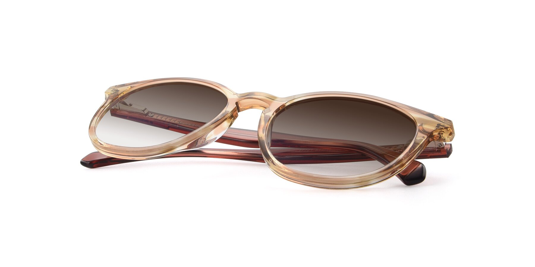 View of 17721 in Stripe Caramel with Brown Gradient Lenses