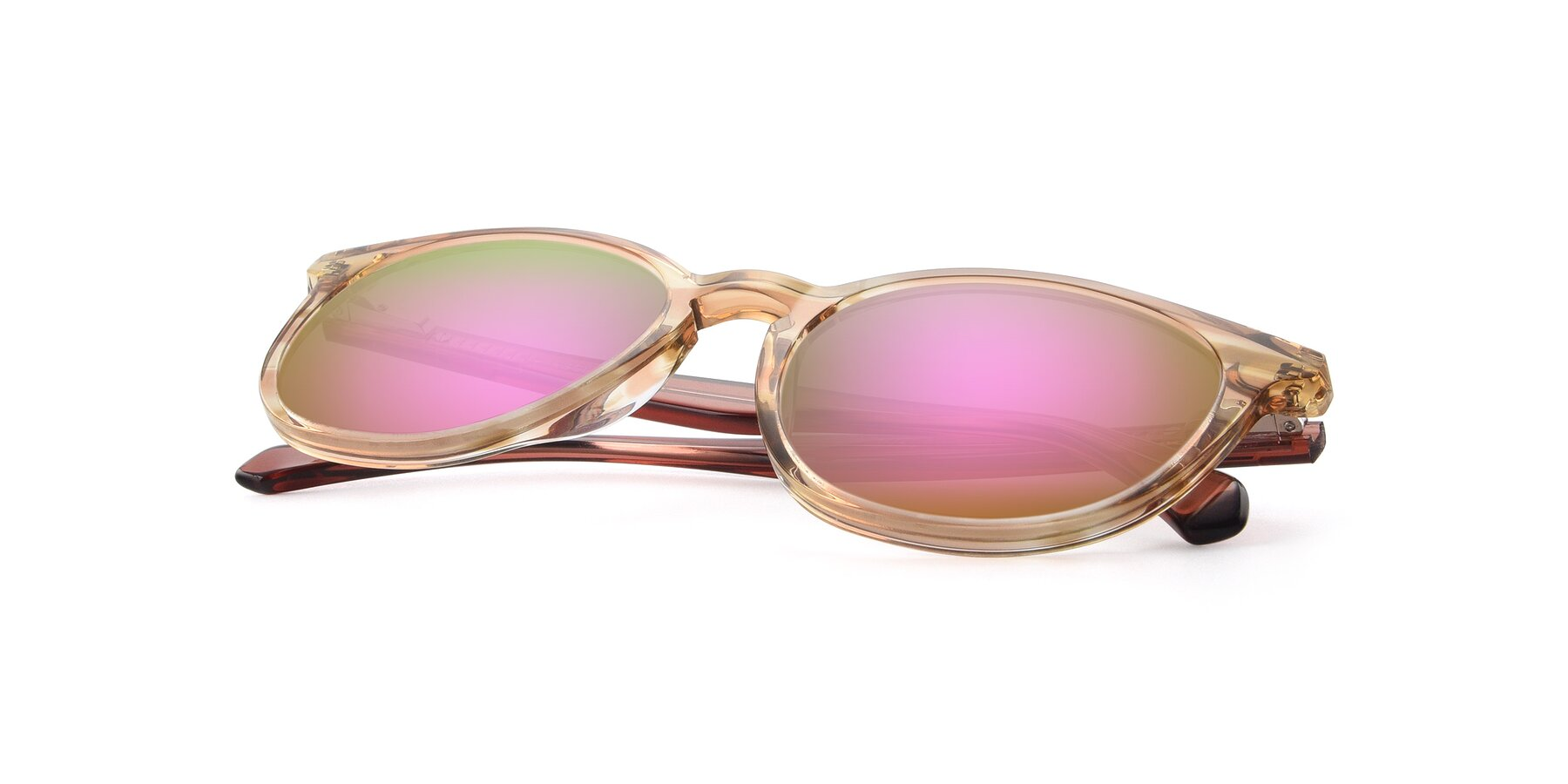 View of 17721 in Stripe Caramel with Pink Mirrored Lenses