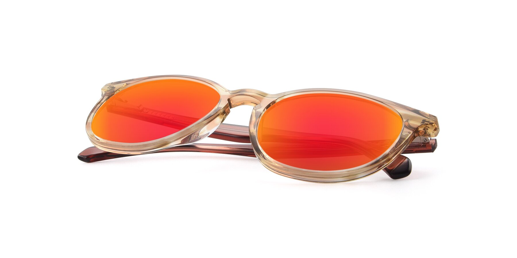 View of 17721 in Stripe Caramel with Red Gold Mirrored Lenses