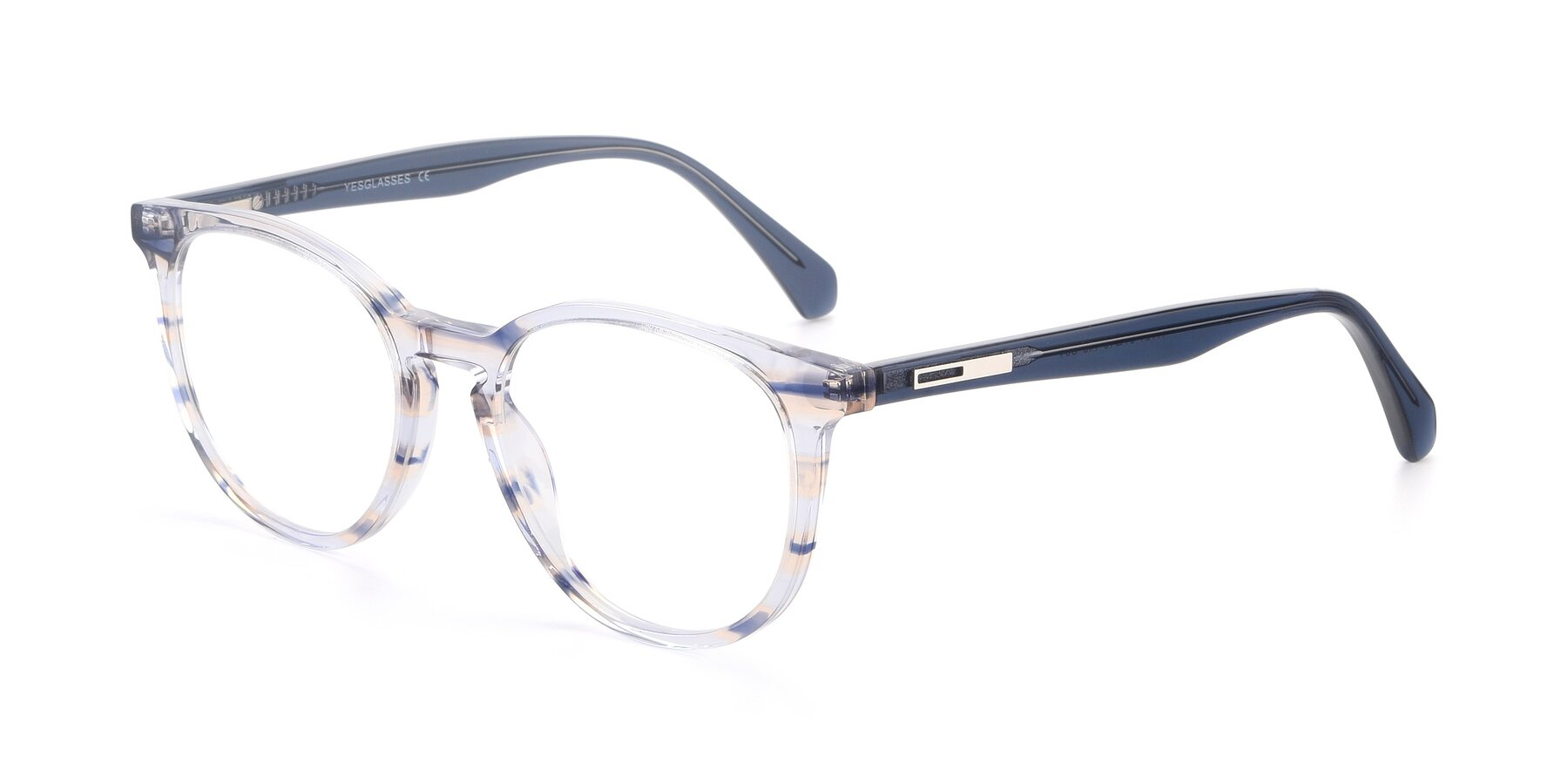 Angle of 17721 in Stripe Blue with Clear Blue Light Blocking Lenses