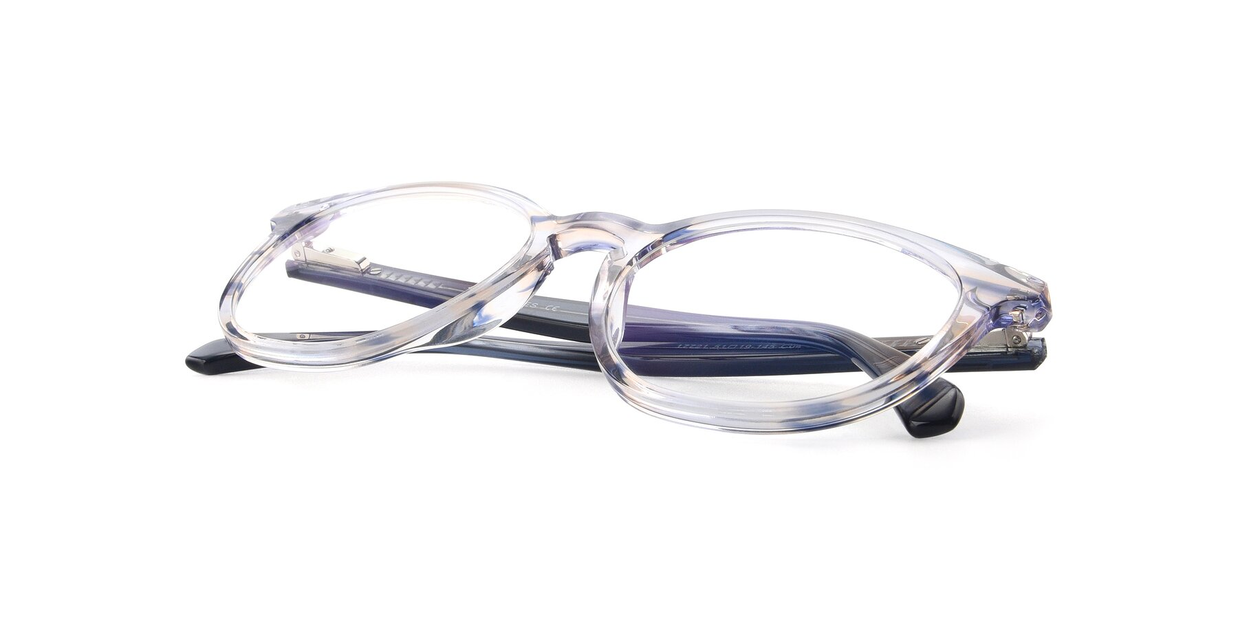 View of 17721 in Stripe Blue with Clear Blue Light Blocking Lenses