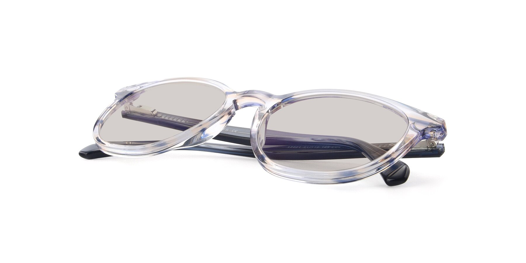 View of 17721 in Stripe Blue with Light Brown Tinted Lenses