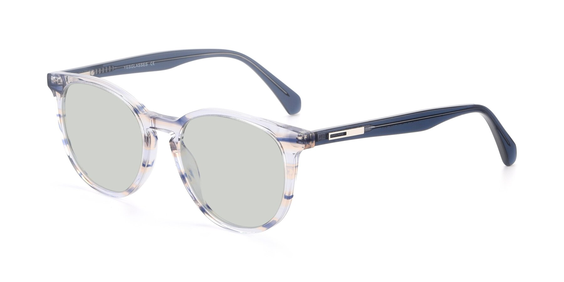 Angle of 17721 in Stripe Blue with Light Green Tinted Lenses