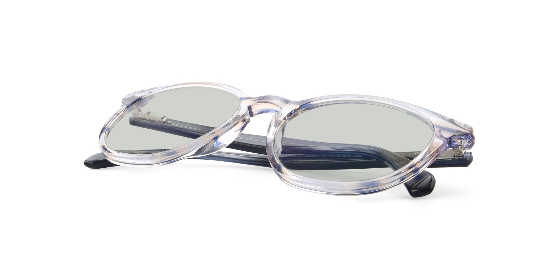 View of 17721 in Stripe Blue with Light Green Tinted Lenses