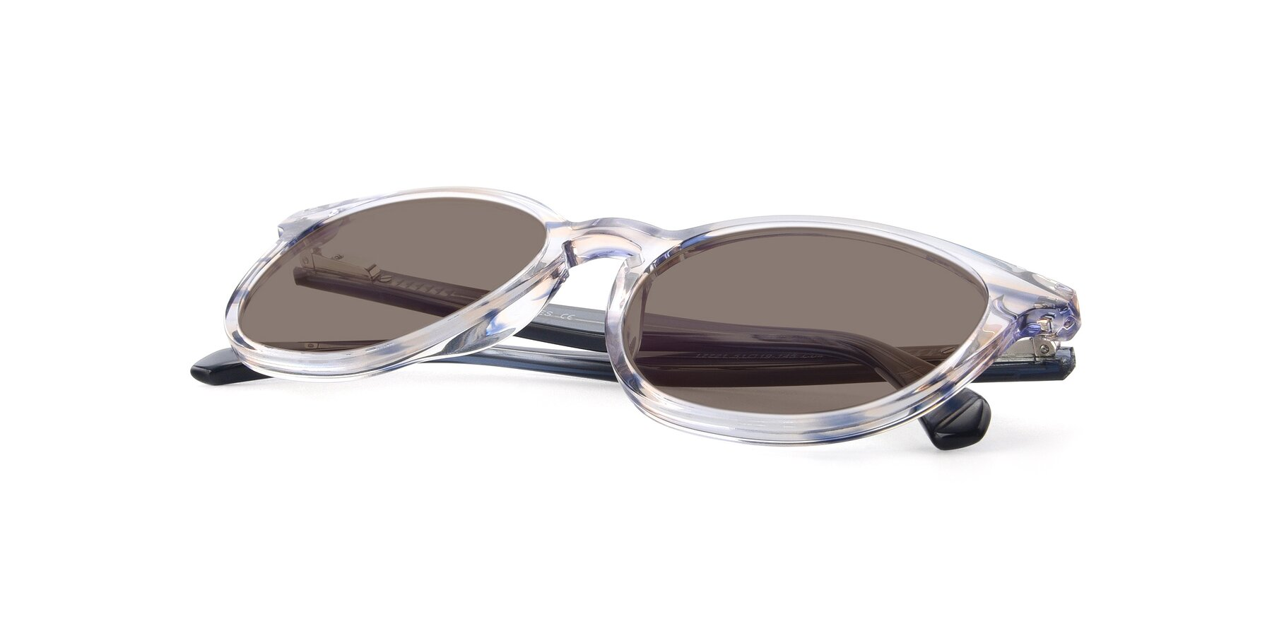 View of 17721 in Stripe Blue with Medium Brown Tinted Lenses