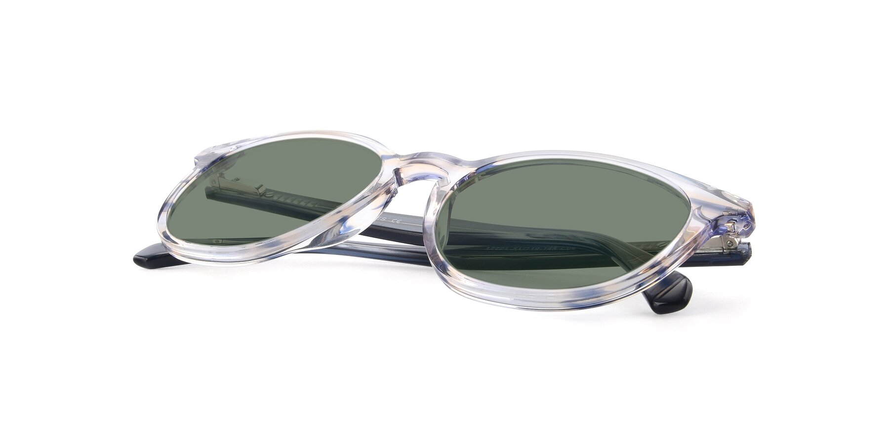 View of 17721 in Stripe Blue with Medium Green Tinted Lenses