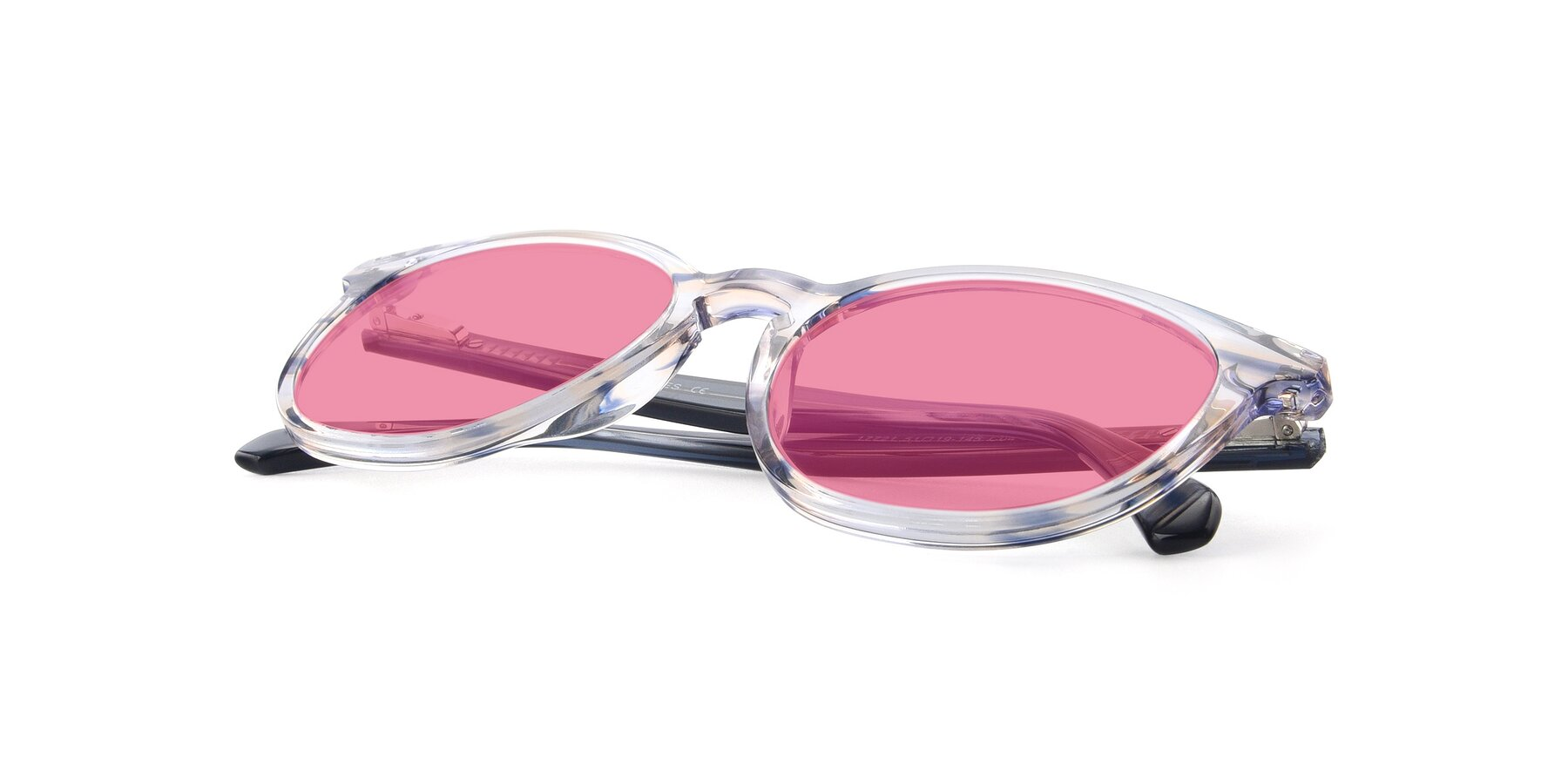 View of 17721 in Stripe Blue with Pink Tinted Lenses