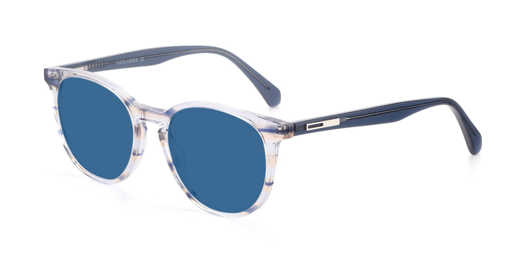 Angle of 17721 in Stripe Blue with Blue Tinted Lenses