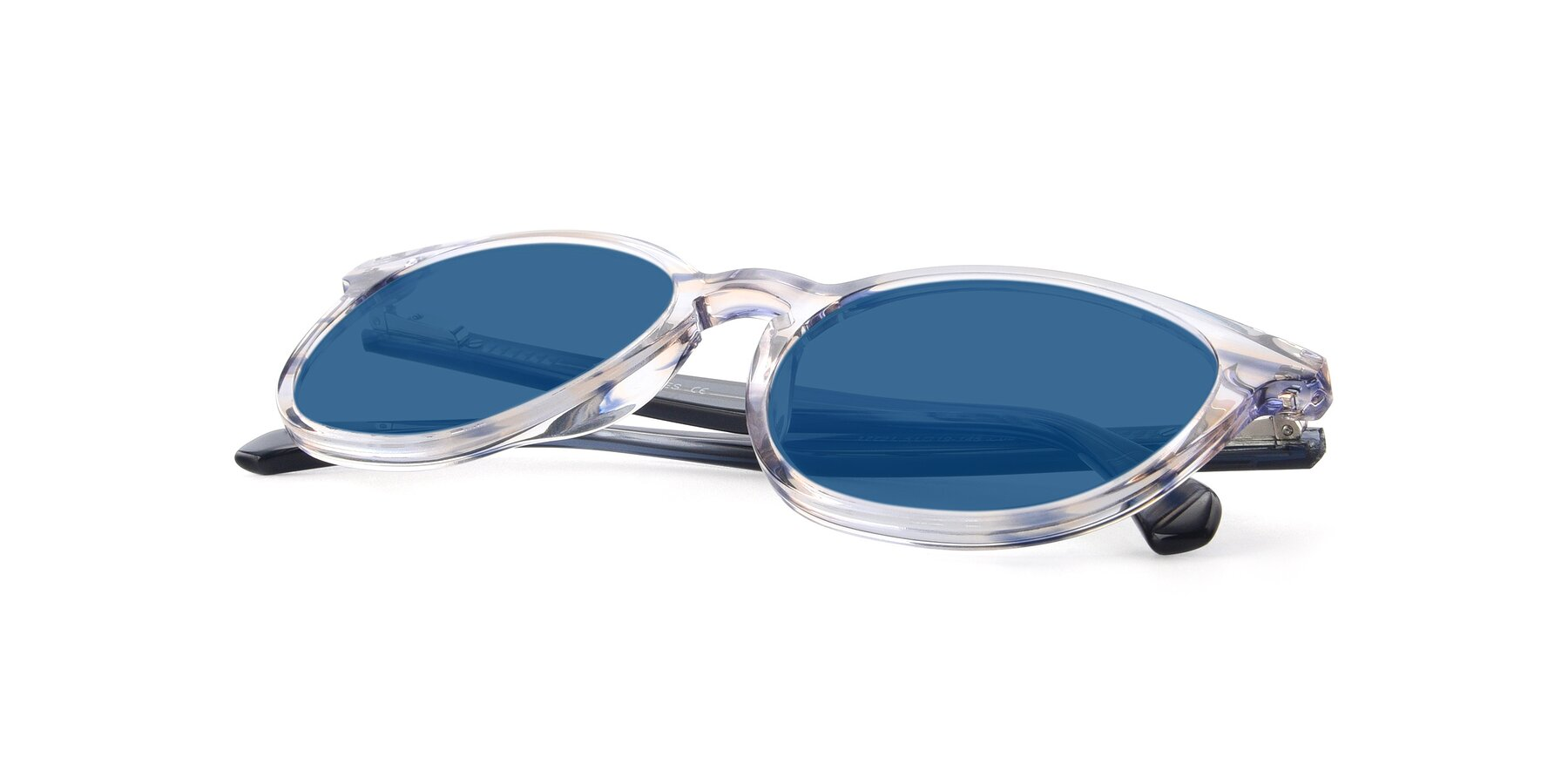 View of 17721 in Stripe Blue with Blue Tinted Lenses