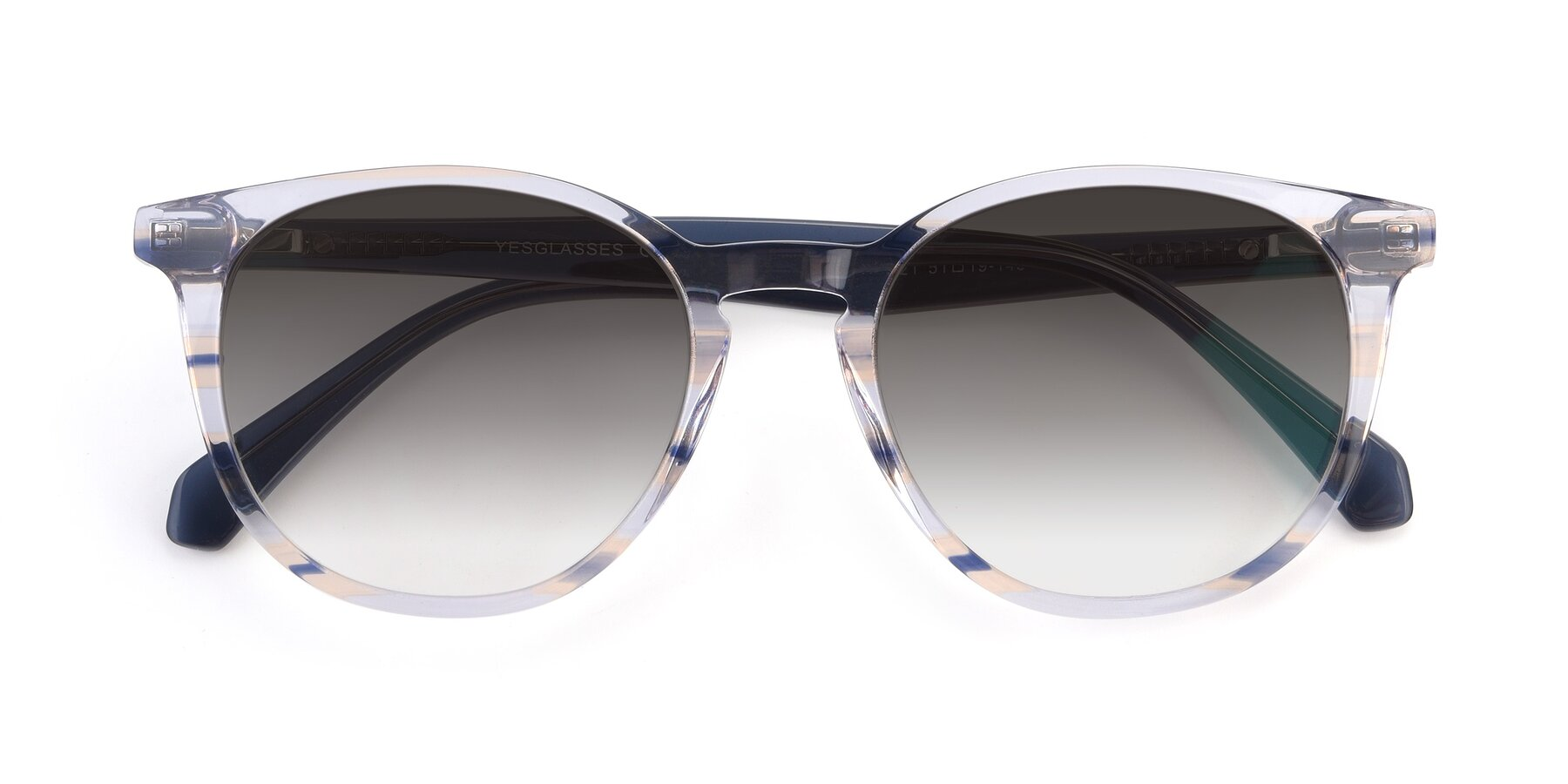 Folded Front of 17721 in Stripe Blue with Gray Gradient Lenses