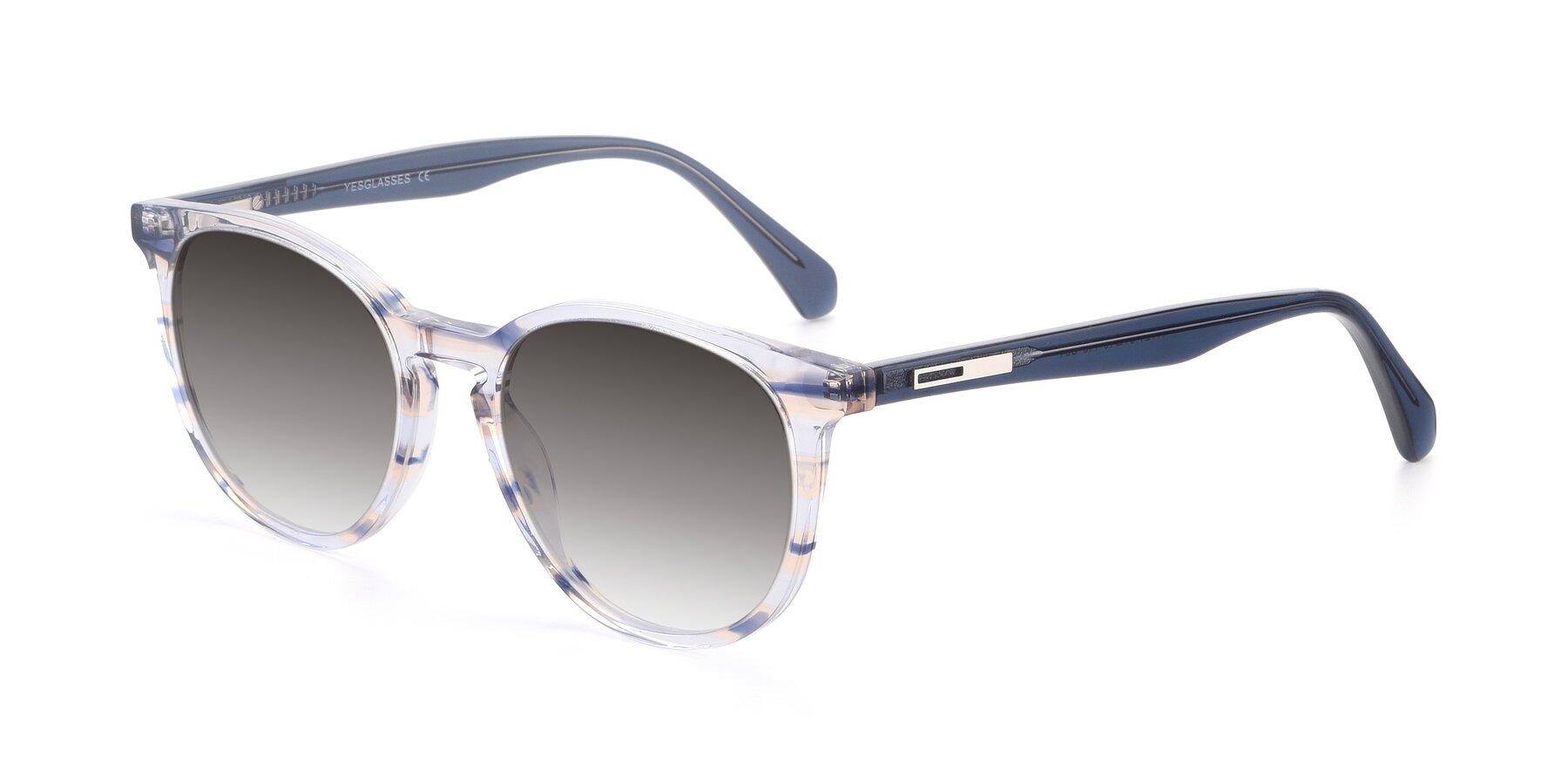 Angle of 17721 in Stripe Blue with Gray Gradient Lenses