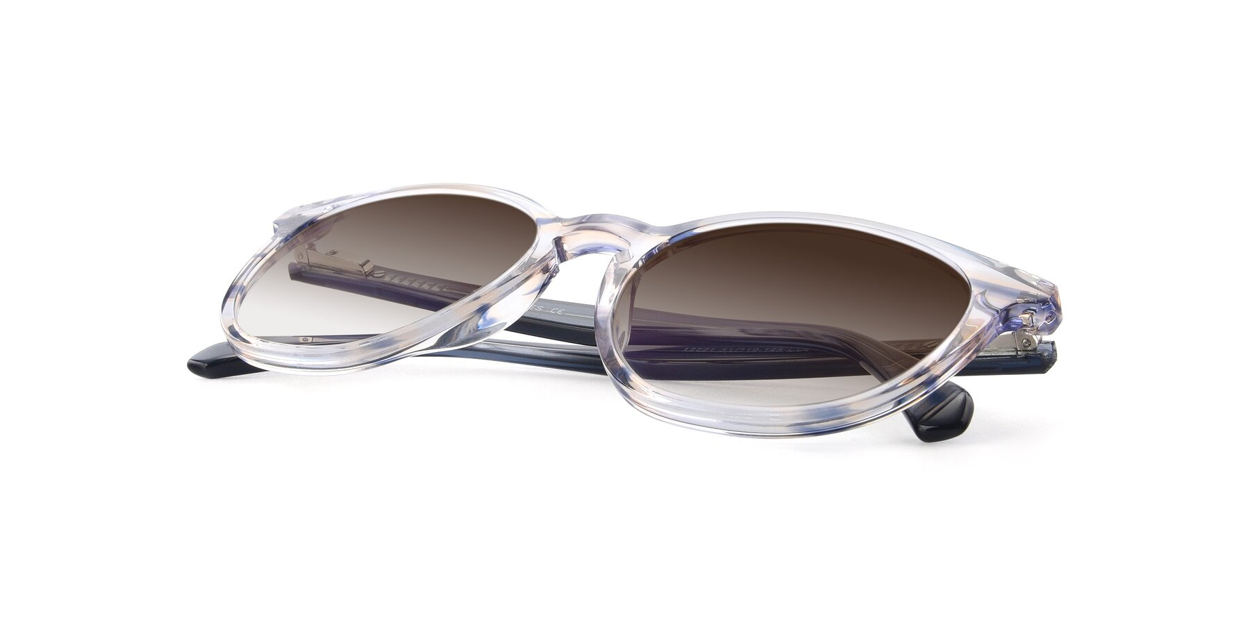 View of 17721 in Stripe Blue with Brown Gradient Lenses